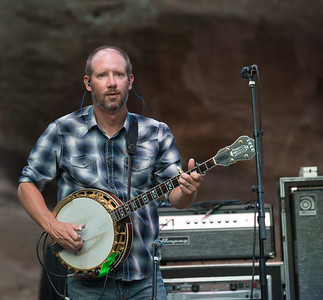 Michael Bont of Greensky Bluegrass plays Red Rocks on August 21, 2015. Photos by Candace Horgan, heyreverb.com.