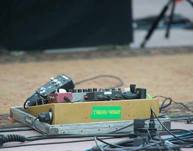 Anders Beck's pedalboard. Photos by Candace Horgan, heyreverb.com.