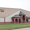 Holthus Fieldhouse (built 2003) sports facility with walking track and weight room.