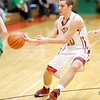 Don Knight / The Herald Bulletin<br /> Anderson's Grant Bennett passes the ball as the Indians hosted Yorktown on Friday.