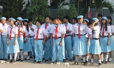 Students in uniform