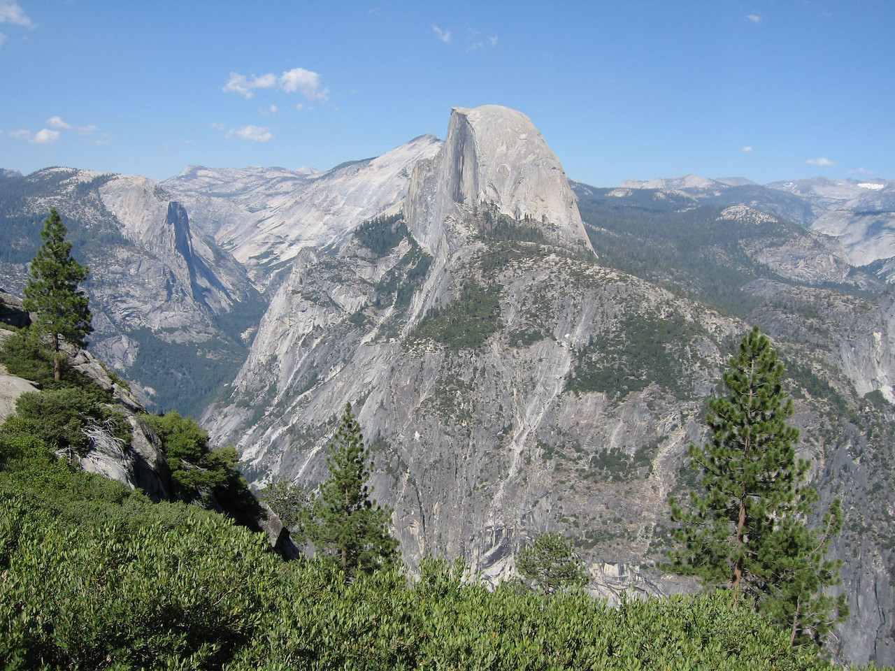 """IMG_0169  A few of half dome from galcier point. <a href=""""http://blog.kevitivity.com"""">blog.kevitivity.com</a>"""