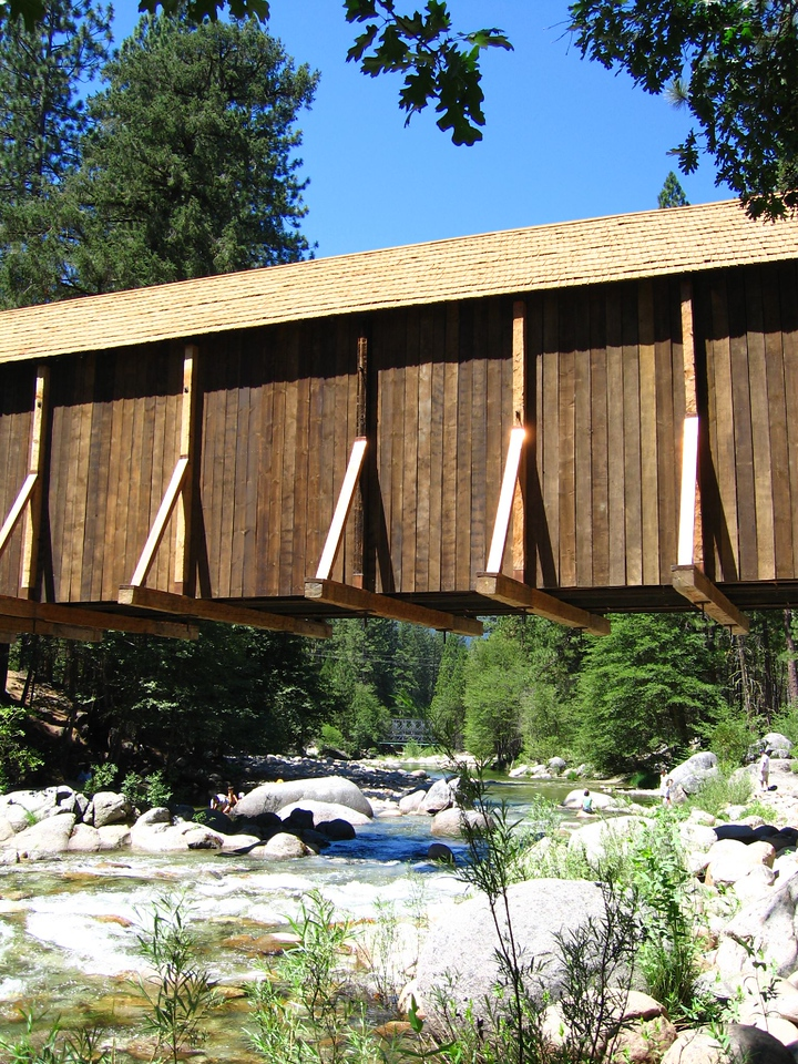 Wawona covered bridge <br /> The covered bridge in Wawona CA.