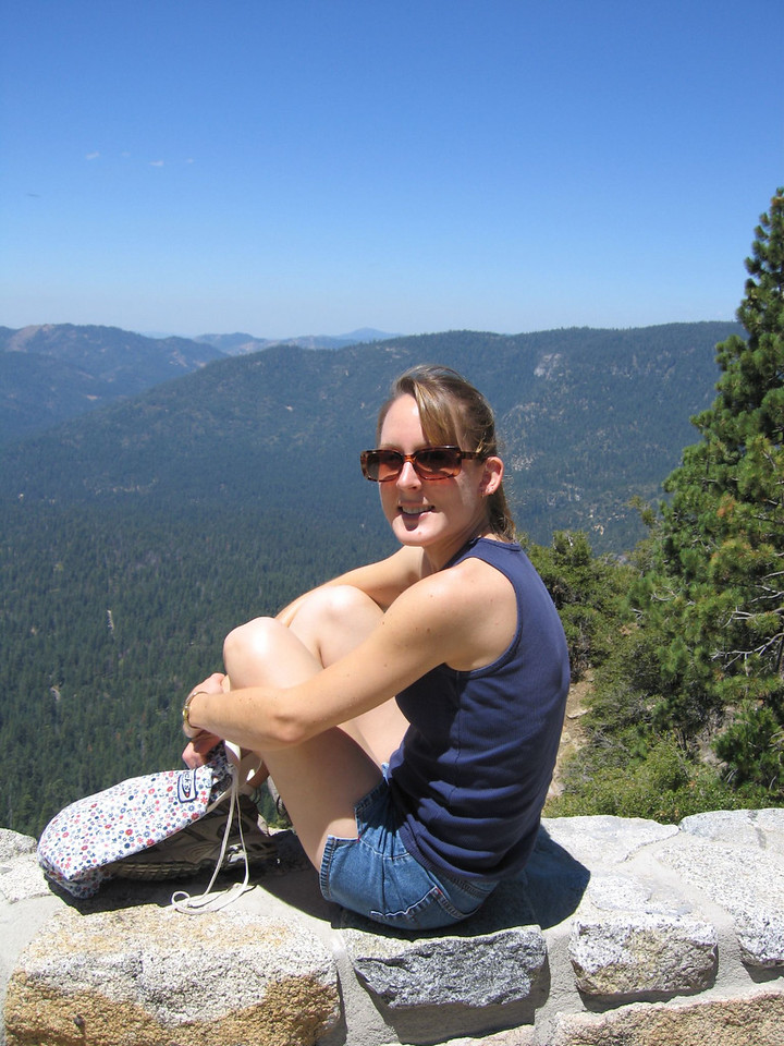 Kelly <br /> View from Wawona point, 6800 feet.  The Wawona valley is bellow.