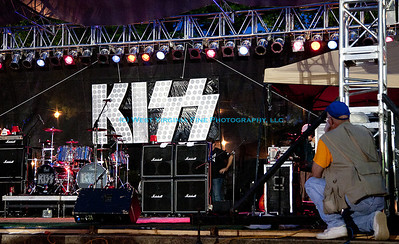 "Ron preparing for the Riverfest ""Dressed To Kill"" concert, a KISS tribute band.  Thanks to my friend, Amanda, for the photo!"