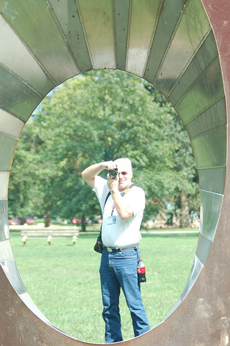 "Photo through the ""Earth Portal"" in Ritter Park, Huntington, WV.  Thanks to my daughter, Leann."