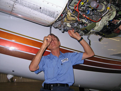 Changing the right engine on the Westwind July 2012.
