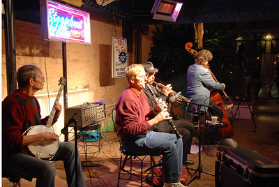 Playing with Steamboat Willie's Jazz Band in New Orleans, January 2009