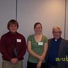 St. Agnes Parish.  Kale Shafer, Megan Kehoe and Fr. Larry Pashak.