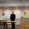 Marian Moll, Fr. Nick Coffaro and Jean Seman.