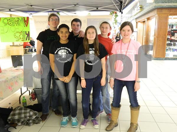 left to right: Eriana Howard, Elle Johnson, Andy Johnson. Connor Lovejoy, Amanda Lovejoy, Tyler Grundon