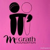 McGrath foundation symbol on a pink construction site wall in Civic, Canberra in May 2016
