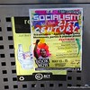 Socialism for the 21st century conference poster on a dusbin in Civic, Canberra in May 2016
