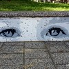 Face street art in Civic, Canberra in May 2016
