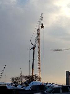 Erecting 550 Liebherr tower crane