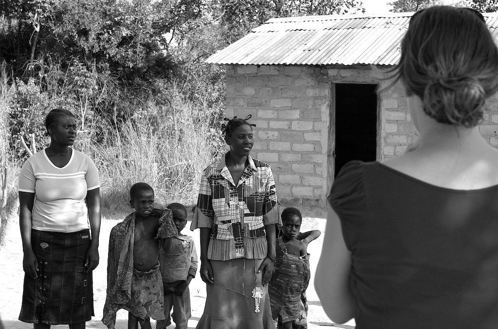 Village children watching the activities