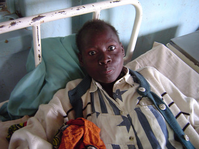 An HIV/AIDS patient at the hospital in Macha - a PEPFAR funded ARV program.
