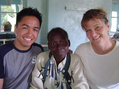 Nurse Ron and Dr Anneke with HIV/AIDS patient in Macha.