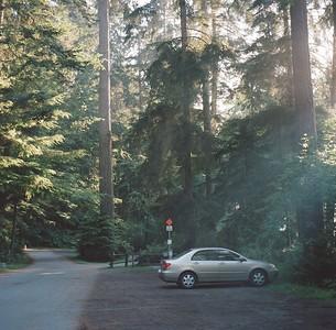 North Beach parking at Deception Pass State Park, 2015. Negative: Kodak Portra 400 ASA.