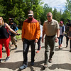 KATAHDIN WOODS AND WATERS NATIONAL MONUMENT, Maine -- 06/14/2017 - U.S. Secretary of the Interior Ryan Zinke (right) walks with Lucas St. Clair during a tour of the Katahdin Woods and Waters National Monument Tuesday. The visit was the start of a four-day visit to New England. Katahdin Woods and Waters National Monument is currently under  review via President Trump's Executive Order 13792, issued April 26, 2017. Ashley L. Conti | BDN