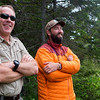 KATAHDIN WOODS AND WATERS NATIONAL MONUMENT, Maine -- 06/14/2017 - U.S. Secretary of the Interior Ryan Zinke (left) and Lucas St. Clair look over the views during a tour of the Katahdin Woods and Waters National Monument Tuesday. The visit was the start of a four-day visit to New England. Katahdin Woods and Waters National Monument is currently under  review via President Trump's Executive Order 13792, issued April 26, 2017. Ashley L. Conti | BDN