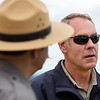 KATAHDIN WOODS AND WATERS NATIONAL MONUMENT, Maine -- 06/14/2017 - U.S. Secretary of the Interior Ryan Zinke (right) looks out at Katahdin during a tour of the Katahdin Woods and Waters National Monument Tuesday. The visit was the start of a four-day visit to New England. Katahdin Woods and Waters National Monument is currently under  review via President Trump's Executive Order 13792, issued April 26, 2017. Ashley L. Conti | BDN