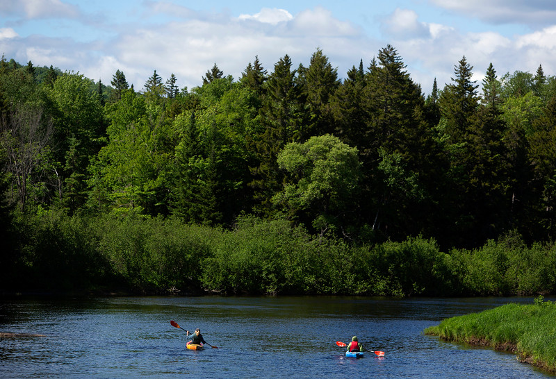 KATAHDIN WOODS AND WATERS NATIONAL MONUMENT, Maine -- 06/14/2017 - Kayakers enjoy the water in the Katahdin Woods and Waters National Monument Tuesday. Ashley L. Conti | BDN