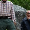 KATAHDIN WOODS AND WATERS NATIONAL MONUMENT, Maine -- 06/14/2017 - U.S. Secretary of the Interior Ryan Zinke laughs with park goers during a tour of the Katahdin Woods and Waters National Monument Tuesday. The visit was the start of a four-day visit to New England. Katahdin Woods and Waters National Monument is currently under  review via President Trump's Executive Order 13792, issued April 26, 2017. Ashley L. Conti | BDN