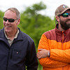 KATAHDIN WOODS AND WATERS NATIONAL MONUMENT, Maine -- 06/14/2017 - U.S. Secretary of the Interior Ryan Zinke (left) laughs with Lucas St. Clair during a tour of the Katahdin Woods and Waters National Monument Tuesday. The visit was the start of a four-day visit to New England. Katahdin Woods and Waters National Monument is currently under  review via President Trump's Executive Order 13792, issued April 26, 2017. Ashley L. Conti | BDN