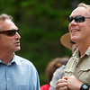 KATAHDIN WOODS AND WATERS NATIONAL MONUMENT, Maine -- 06/14/2017 - U.S. Secretary of the Interior Ryan Zinke (right) speaks with Matthew Polstein, Katahdin region business man, during a tour of the Katahdin Woods and Waters National Monument Tuesday. The visit was the start of a four-day visit to New England. Katahdin Woods and Waters National Monument is currently under  review via President Trump's Executive Order 13792, issued April 26, 2017. Ashley L. Conti | BDN