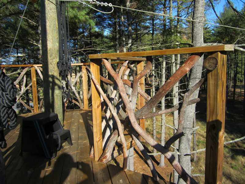 Signature mountain laurel railing.