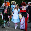 Alice in Wonderland trio of zombies