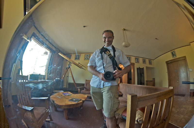 Behind me to the left (my right) is the telescope carried across the country and used to survey sites by William Henry Pickering of Harvard who teamed up with Lowell Percival to help create Lowell Observatory.