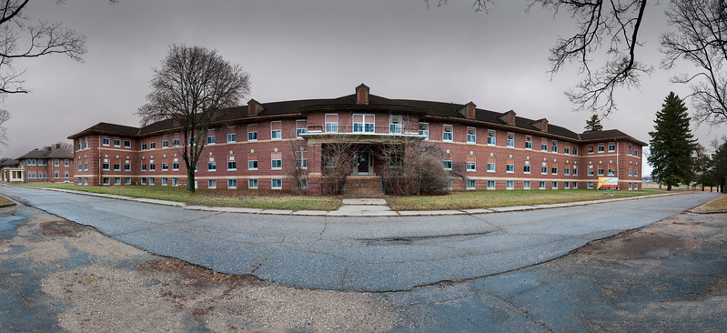One of the brick buildings at the Fergus Falls Regional Treatment Center.