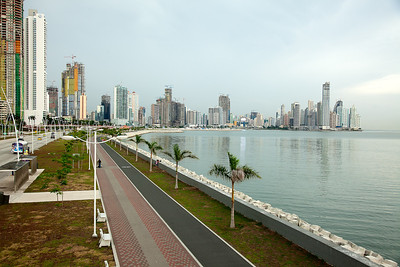 Another view closer to the water - as you can see walking or riding etc.  The problem is when the sun is out it is brutal. Patrolled regularly by police on bikes, motorcycles and foot.Panama City, Panama