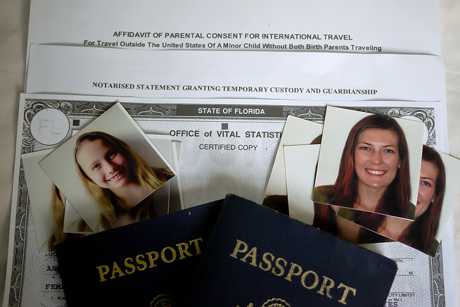 traveling with a minor documents
