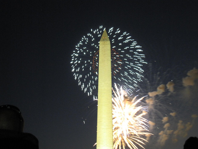 Fireworks in Washington DC