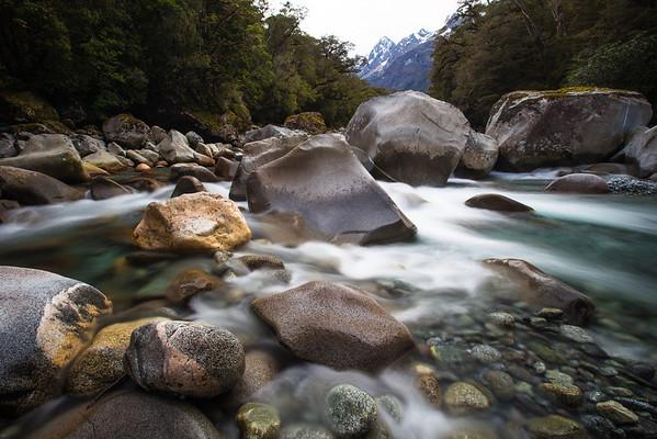 Tutoko River boulders.