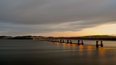 the bridge over River Tay, Dundee, Scotland