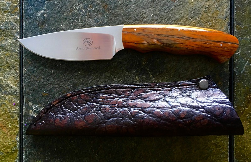 Arno Bernard Knives - Grazer Series - Zebra Fixed Blade w/ Giraffe Bone Handle