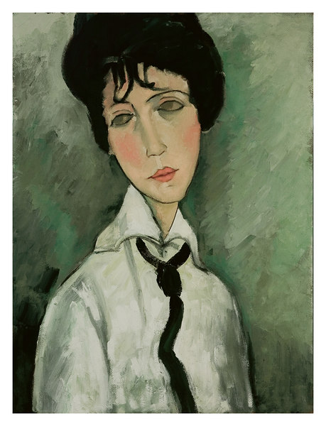 portrait of a woman with a black tie