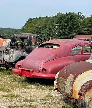 Red Rusted Car