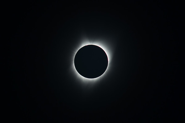 Totality Solar Eclipse Cropped - Oregon Coast