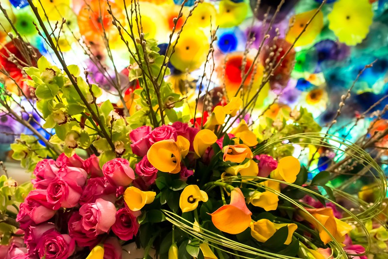 Bouquet with Bellagio Ceiling