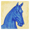 blue horse - three quarter 2005