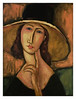 jeanne hebuterne in large hat