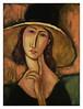 jeanne hebuterne in large hat