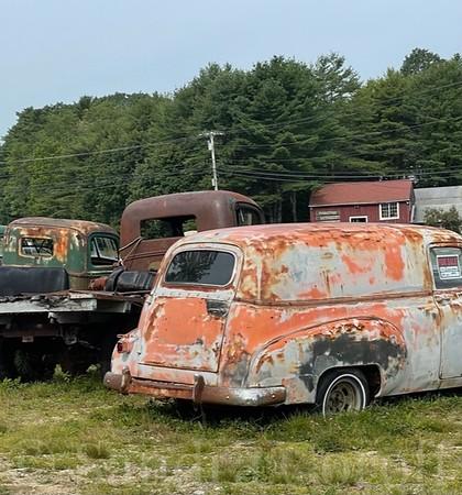 Creamsicle Rusted Van