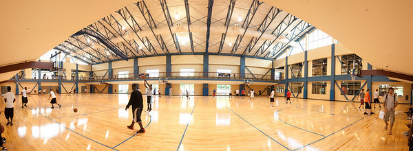 Rec Center Panoramic of basketball courts