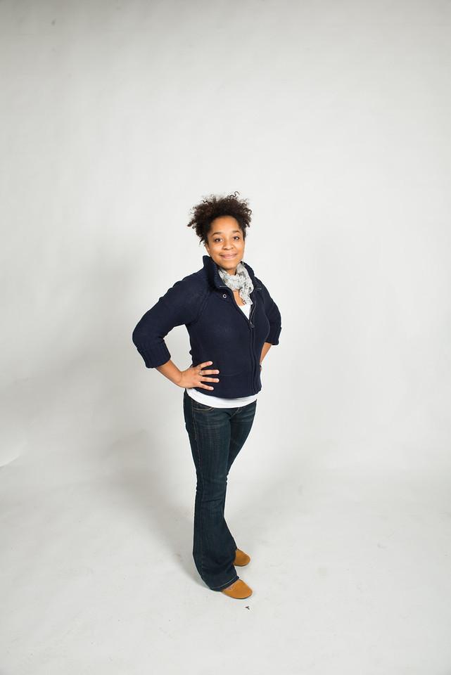 Yahzmine Rodriguez posing for advertisement in studio